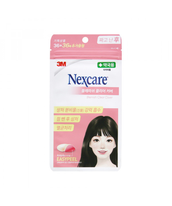 [3M NEXCARE] Blemish Clear Cover (2021AD) - 1pack (72pcs)