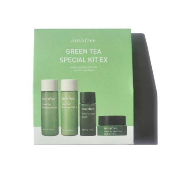 [INNISFREE_Sample] Green Tea Special Kit EX Sample - 1pack (4items)