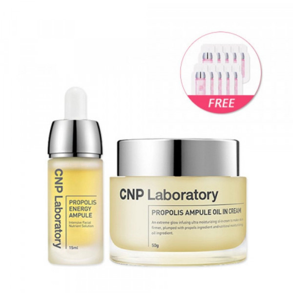 [CNP LABORATORY] Propolis Ampule Oil In Cream 50ml +  Energy Ampule 15ml(Free Random Samples 10pcs)