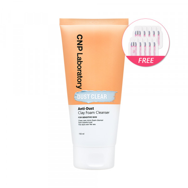 [CNP LABORATORY] Anti Dust Clay Foam Cleanser - 150ml(Free Random Samples 10pcs)