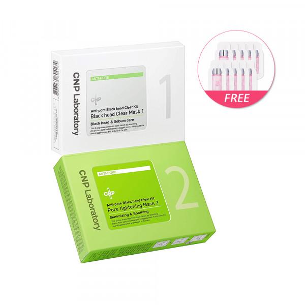 [CNP LABORATORY] Anti Pore Black Head Clear Kit (2020) - 1pack (10uses)(Free Random Samples 10pcs)