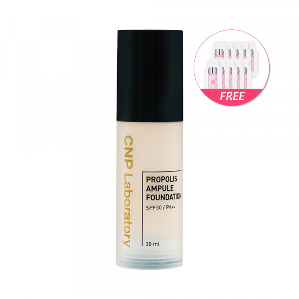 [CNP LABORATORY] Propolis Ampule Foundation - 30ml(Free Random Samples 10pcs)