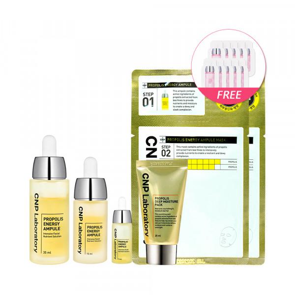 [CNP LABORATORY] Propolis Energy Ampule Special Set - 1pack (5items)(Free Random Samples 10pcs)