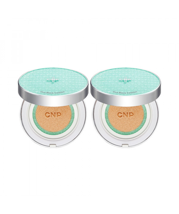 [CNP LABORATORY] 1+1 Cica Block Cushion - 1pack (13g+Refill) (SPF35 PA++)(Free gift)