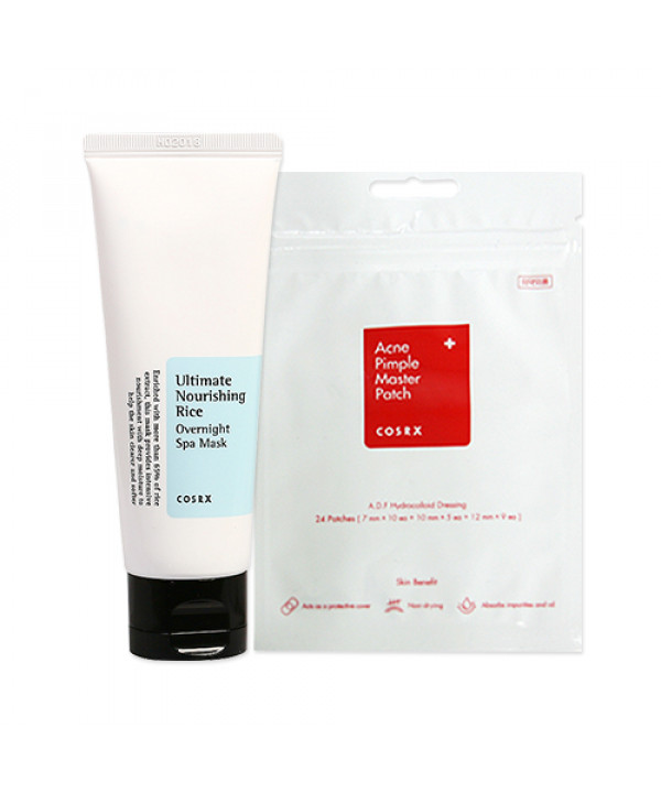 [COSRX] Acne Pimple Master Patch 1pack + Ultimate Nourishing Rice Overnight Spa Mask 60ml