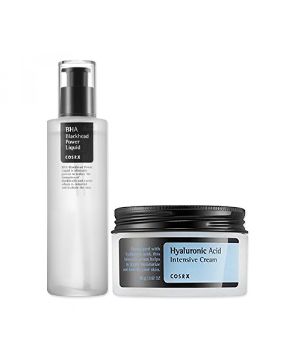 [COSRX] BHA Blackhead Power Liquid 100ml + Hyaluronic Acid Intensive Cream 100g