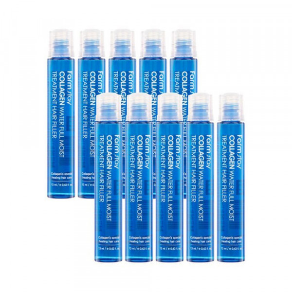 [FARM STAY] 1+1 Collagen Water Moist Treatment Hair Filler - 2pack (13ml x 10pcs)
