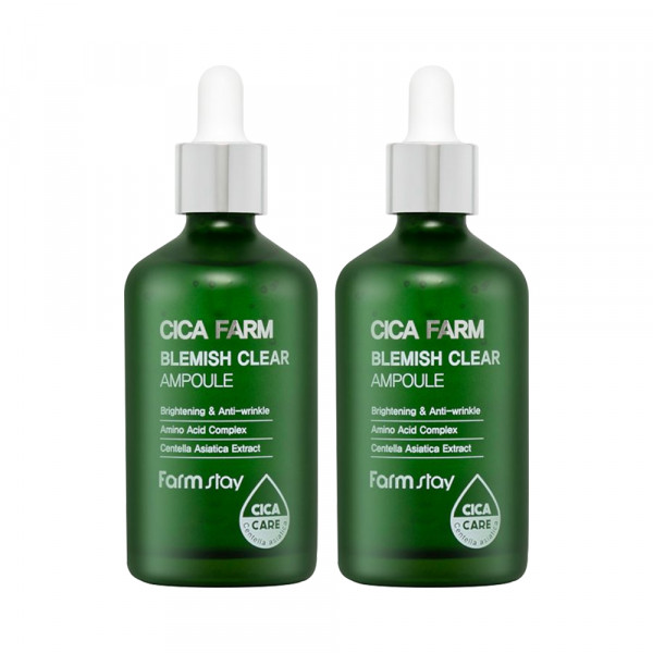 [FARM STAY] 1+1 Cica Farm Blemish Clear Ampoule - 100ml