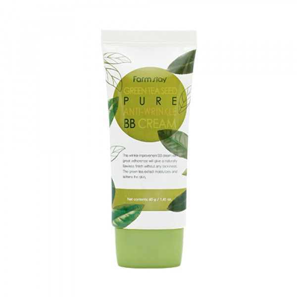 [FARM STAY] Green Tea Seed Pure Anti Wrinkle BB Cream (2021) - 40g