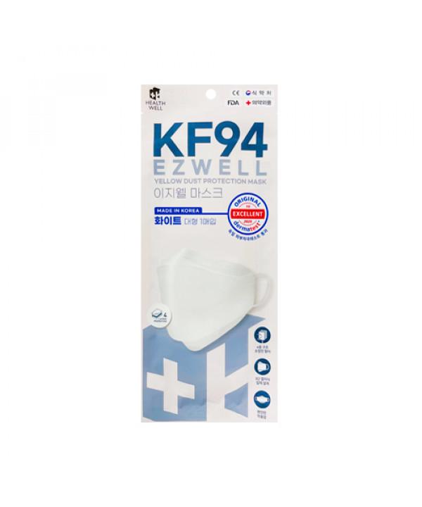 [HEALTHWELL] Ezwell Yellow Dust Protection Mask KF94 White (Large Size) - 40pcs