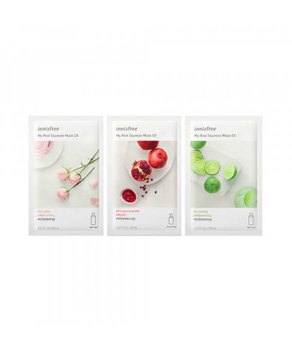 [INNISFREE] My Real Squeeze Mask EX (2019) - 5pcs