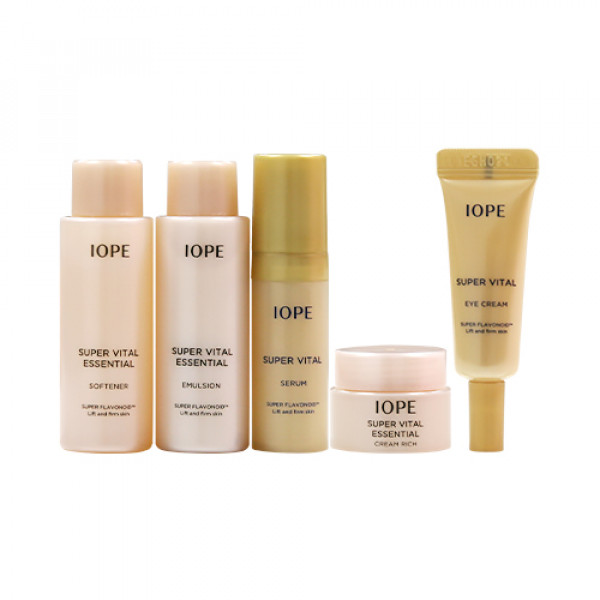 [IOPE_Sample] Super Vital Essential Special Gift Rich Sample - 1pack (5items)