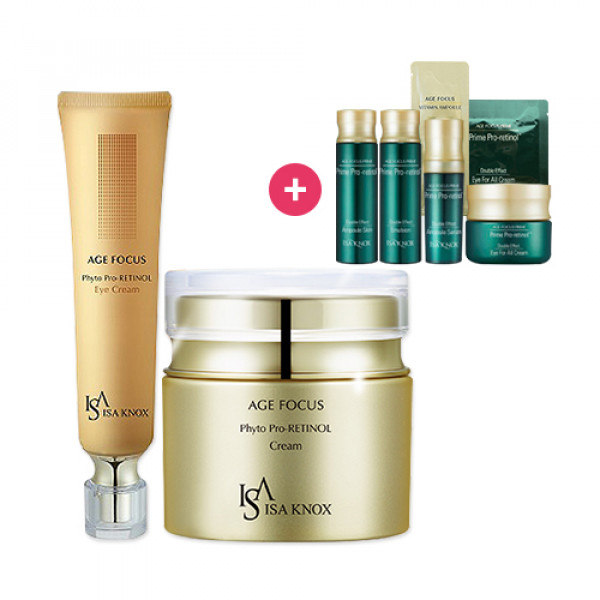 [ISA KNOX] Age Focus Phyto Pro Retinol Cream 50ml + Age Focus Phyto Pro Retinol Eye Cream 30ml + Free Gift