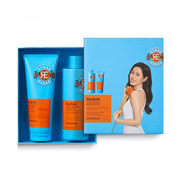 [JENNY HOUSE] Re Bak Style Repair Shampoo & Treatment Set (2021) - 1pack (2items)