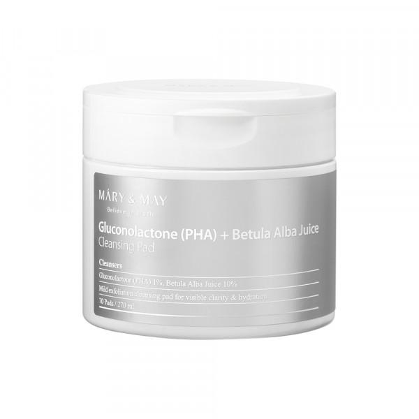 [MARY & MAY] Gluconolactone PHA + Betula Alba Juice Cleansing Pad - 1pack (70pcs)
