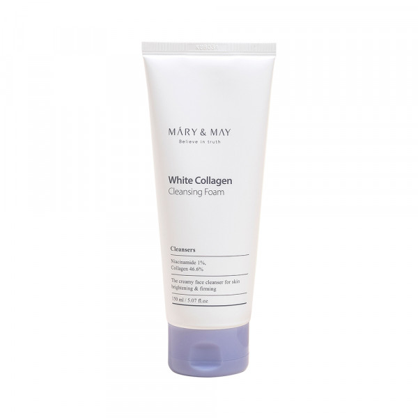[MARY & MAY] White Collagen Cleansing Foam - 150ml