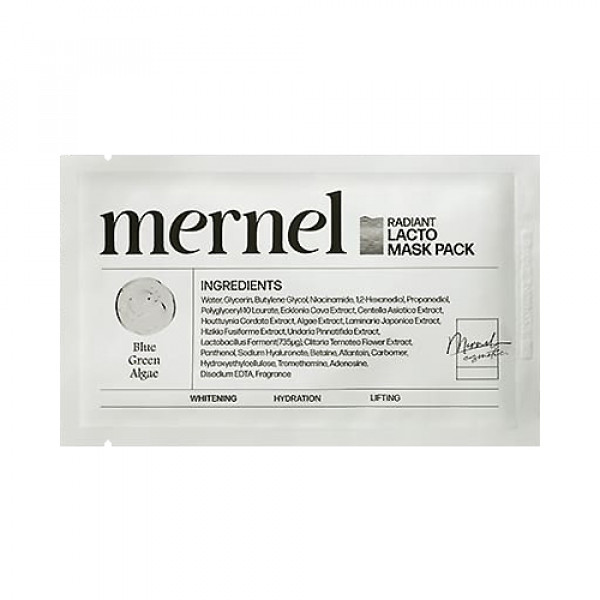 [MERNEL] Radiant Lacto Mask Pack (Whitening) - 5pcs