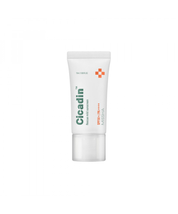 [MISSHA_Sample] Cicadin Rescue Mild Sunscreen Sample - 15ml (SPF50+ PA++++)