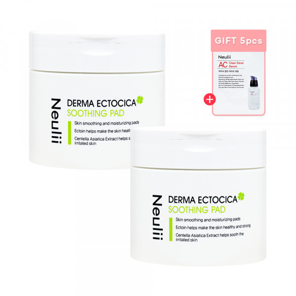 [Neulii] 1+1 Derma Ectocica Soothing Pad - 1pack (60pcs)