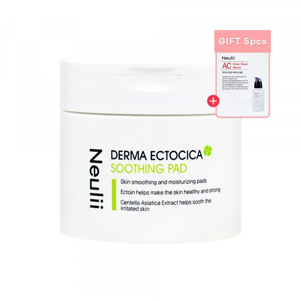 [Neulii] Derma Ectocica Soothing Pad - 1pack (60pcs) (Free Random Samples 5pcs)