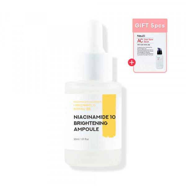 [Neulii] Niacinamide 10 Brightening Ampoule - 30ml (Free Random Samples 5pcs)