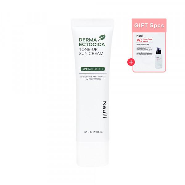 [Neulii] Derma Ectocica Tone Up Sun Cream - 50ml (SPF50+ PA++++) (Free Random Samples 5pcs)