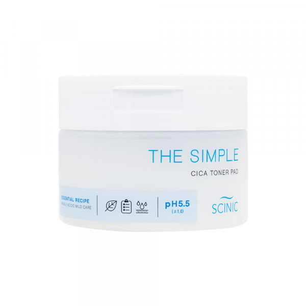 [SCINIC] The Simple Cica Toner Pad - 1pack (60pcs)