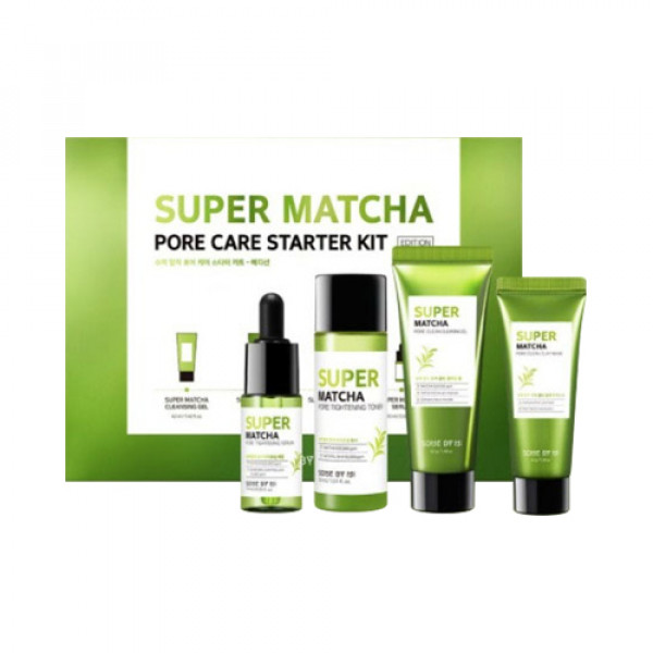 [SOME BY MI] Super Matcha Pore Care Starter Kit Edition - 1pack (4items)