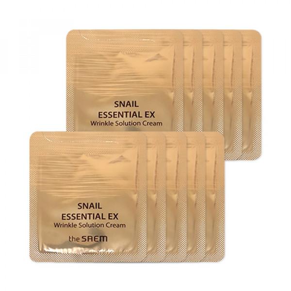 [THESAEM_Sample] Snail Essential EX Wrinkle Solution Cream Samples (2020) - 10pcs