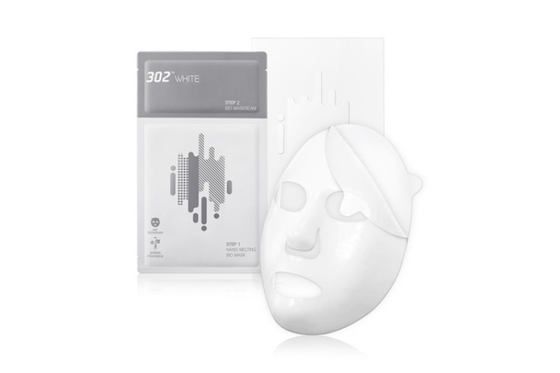 [302WHITE] 2 Step Nano Melting Bio Mask - 1pack (10pcs)