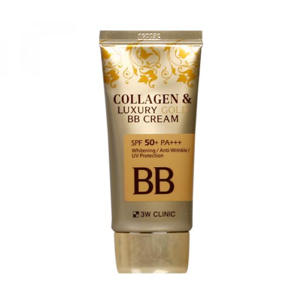 [3W CLINIC] Collagen & Luxury Gold BB Cream - 50ml (SPF50+ PA+++)