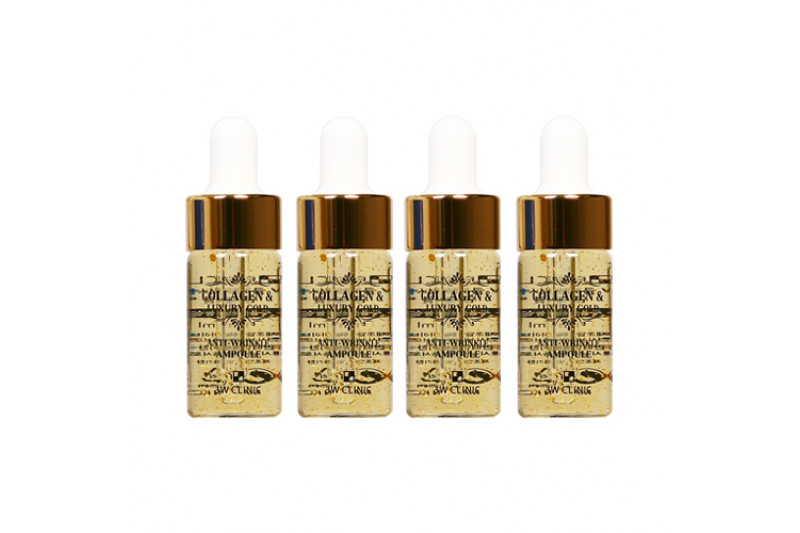 [3W CLINIC] Collagen & Luxury Gold Anti Wrinkle Ampoule - 1pack (13ml x 4pcs)