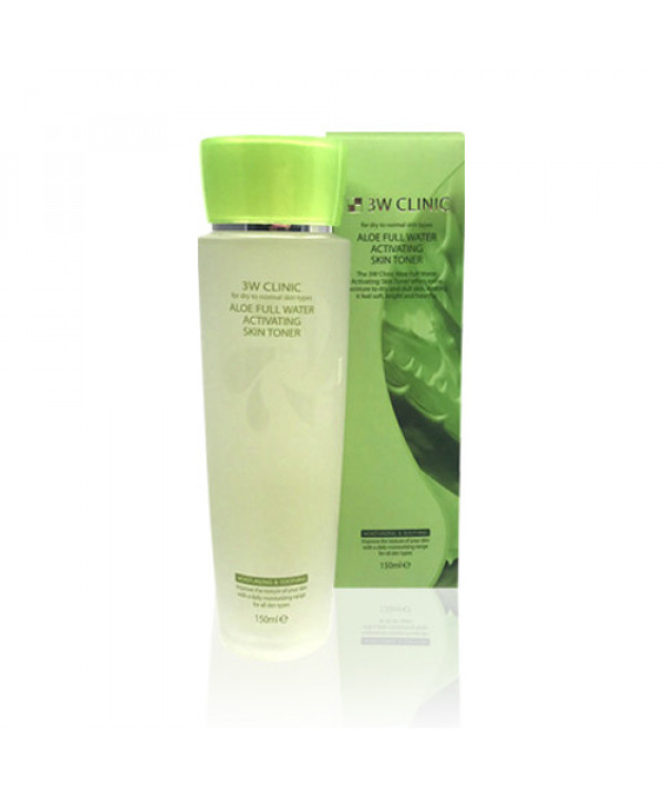 [3W CLINIC] Aloe Full Water Activating Skin Toner - 150ml