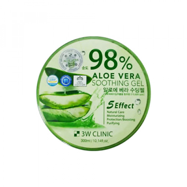 [3W CLINIC] Aloe Vera Soothing Gel 98% - 300ml