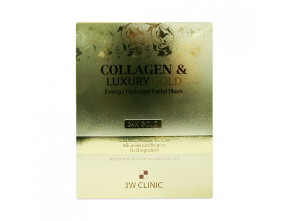[3W CLINIC] Collagen & Luxury Gold Energy Hydrogel Facial Mask - 1pack (5pcs)