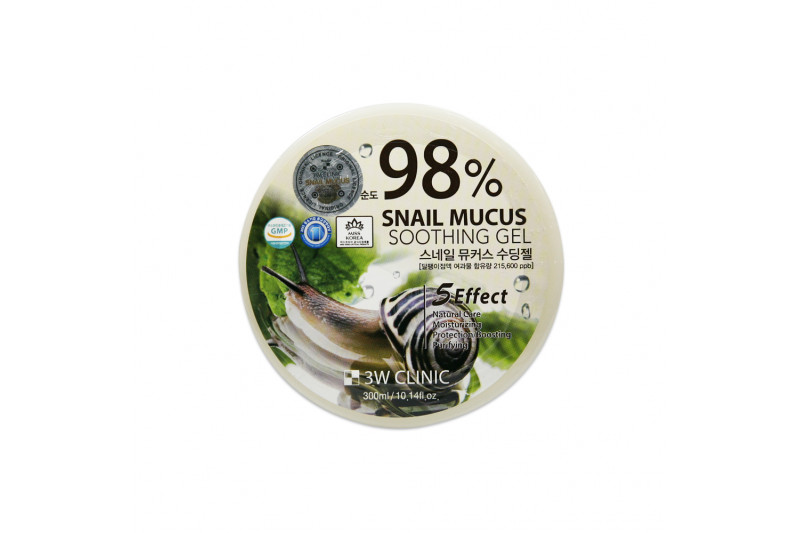 [3W CLINIC] 98% Snail Mucus Soothing Gel - 300ml