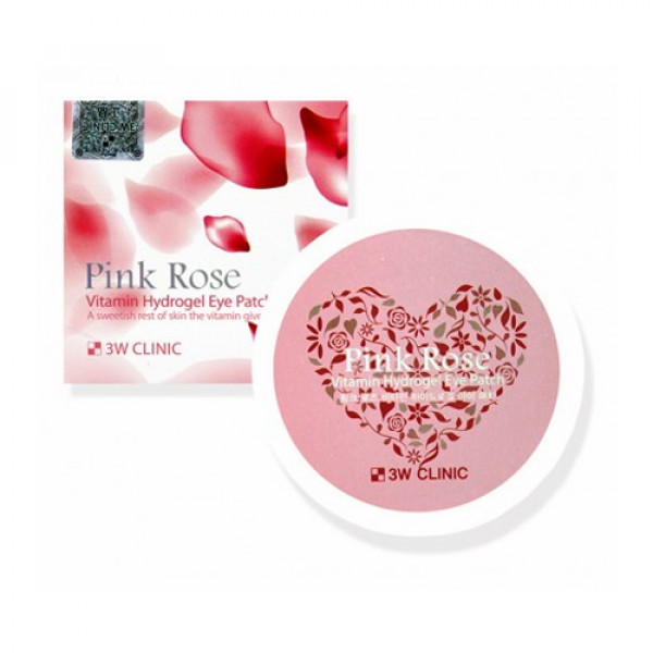 [3W CLINIC] Pink Rose Vitamin Hydrogel Eye Patch - 90g (60pcs)