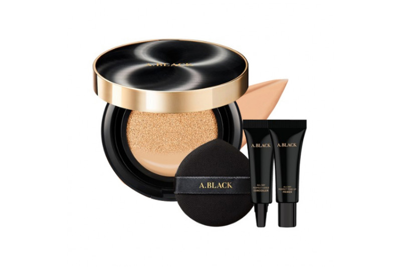 [A.BLACK] All Day Perfect Cover Cushion Set - 1pack (3items)