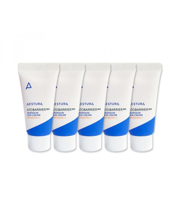 [AESTURA_Sample] Atobarrier 365 Dermaon Sun Cream Samples - 15ml x 5ea (SPF30 PA++)