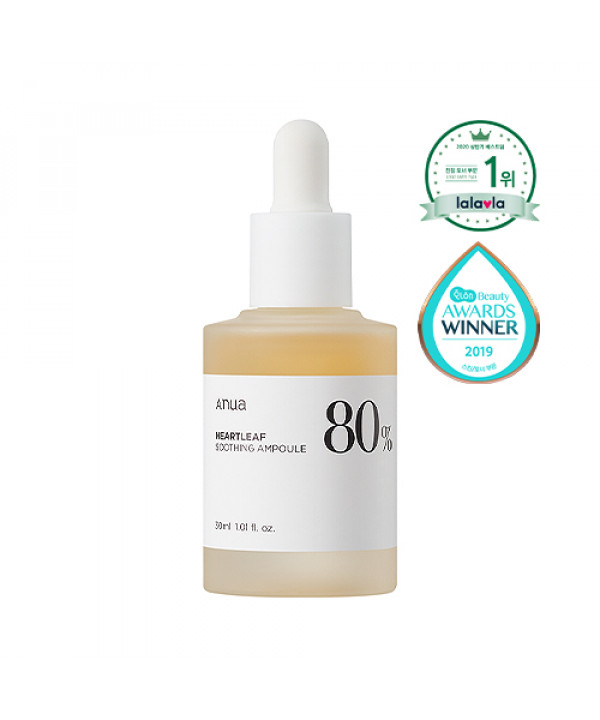 [ANUA] Heartleaf 80% Soothing Ampoule - 30ml