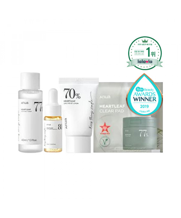 [ANUA] Heartleaf Soothing Trial Kit - 1pack (4items)