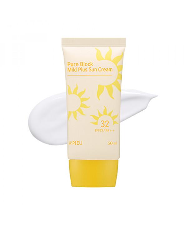 W-[A'PIEU] Pure Block Mild Plus Sun Cream - 50ml (SPF32 PA++) x 10ea