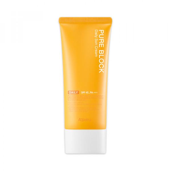 [A'PIEU] Pure Block Daily Sun Cream (L) - 100ml (SPF45 PA+++)