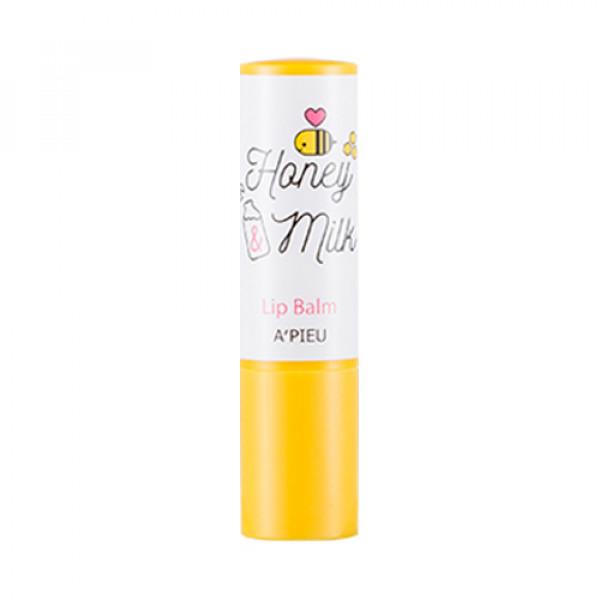 [A'PIEU] Honey & Milk Lip Balm - 3.3g