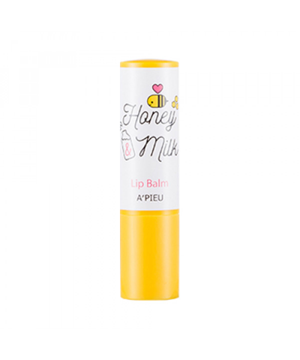 W-[A'PIEU] Honey & Milk Lip Balm - 3.3g x 10ea