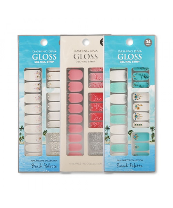 [ARITAUM] Dashing Diva Gloss Gel Nail Strip - 1pack (2pcs+Nail File)
