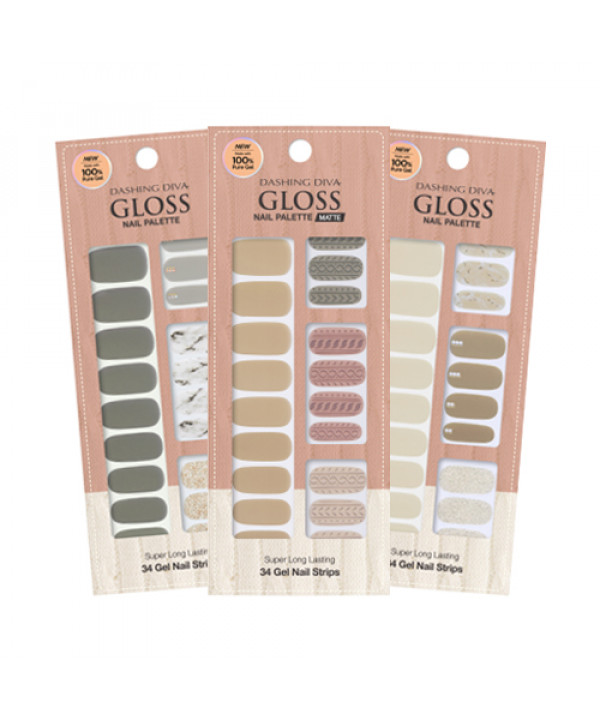 [ARITAUM] Dashing Diva Gloss Nail Palette (Matte) - 1pack (2pcs+Nail File)