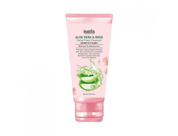 [BEAUTY SKIN] Aloe Vera And Rose Foam Cleanser - 150ml
