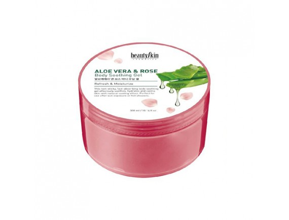 [BEAUTY SKIN] Aloe Vera And Rose Body Soothing Gel - 300ml
