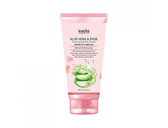 [BEAUTY SKIN] Aloe Vera And Rose Cleansing Gel Foam - 150ml